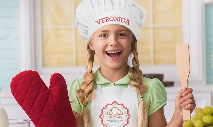 199c9ea3 Kids' Custom Chef Hats and Apron - Monogram Online | Groupon