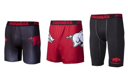 NCAA University of Arkansas Men's Boxer Briefs or Compression Shorts