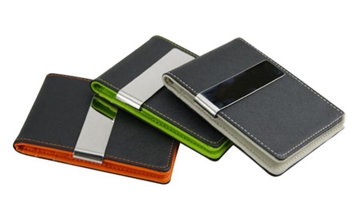 nouveau produit 95af1 5d3a9 Porte-cartes clip intelligent extra fin simili cuir ...