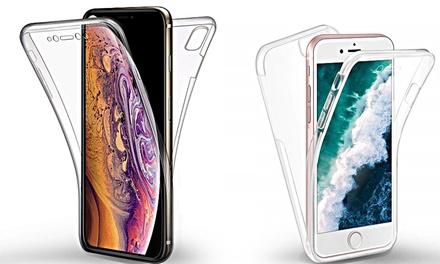 Cover Fronte Retro in silicone Copertura Totale per iPhone 6/6S/6 Plus/6S Plus/7/7 Plus/8/8 Plus/X