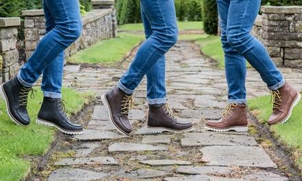 Boots à lacets Work style en cuir Redfoot
