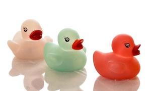 1 ou 2 lots de 3 jouets canards avec LED pour baignoire