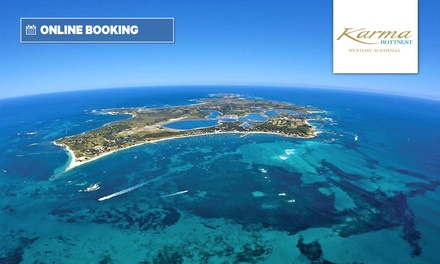 Rottnest Island: 1 or 2 Nights for Two with Bottle of Wine and Ferry Transfers at Karma Rottnest
