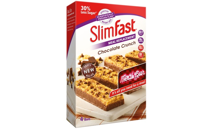 16 SlimFast Chocolate Crunch Meal Replacement Bars for £16