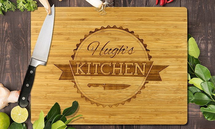 Fabness: Personalized Laser-Etched Bamboo Cutting Boards from Fabness (Up to 75% Off)
