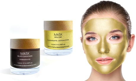 1 o 2 maschere Kahuna Benessere, Gold o Black Diamond, disponibili in 2 formati