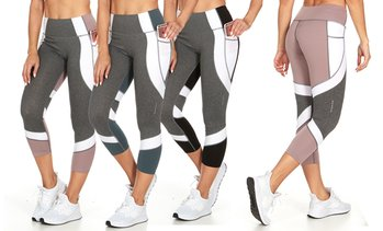 TRAQ65 Women's Activewear Capris w/ Side Pocket. Plus Sizes Available.