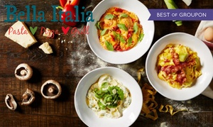 Bella Italia: Two or Three-Course Meal with Drinks for Up to Six at Bella Italia (Up to 55% Off)