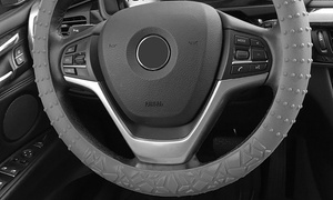 Textured Silicone Steering-Wheel Cover