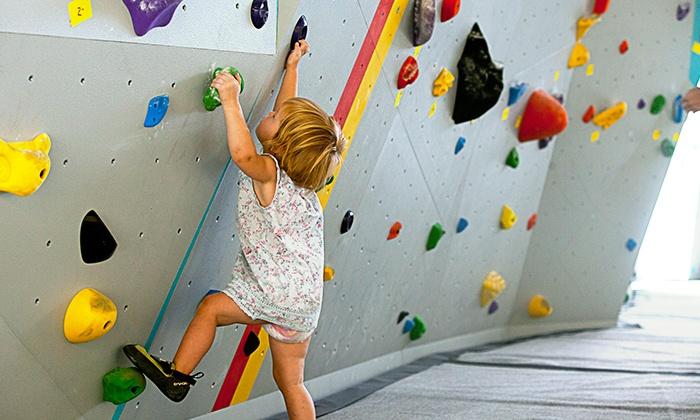Salt Pump Climbing Co - Scarborough: 3 Kids Climbing Classes with Optional Parents Yoga, or 6 Kids Classes at Salt Pump Climbing Co. (Up to 47% Off)
