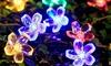 Guirlande avec 50 LED en forme de fleurs de cerisier