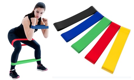 Five-Piece Fitness Resistance Band Set: One ($15) or Two ($25) (Don't Pay up to $99.98)