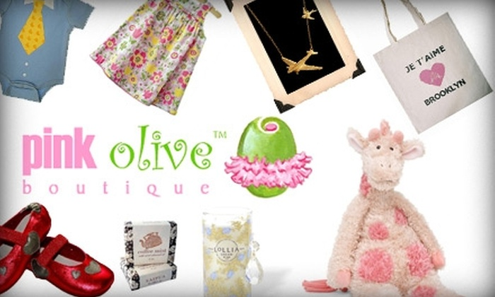Pink Olive inc. - Multiple Locations: $20 for $40 Worth of Gifts and Goods from Pink Olive Boutique