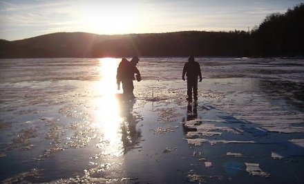 Ice-Fishing Adventure for Up to 2 People (up to a $300 value) - Charter the Berkshires Guided Ice Fishing Excursions in Great Barrington