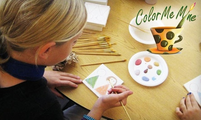 Color Me Mine - Three Chopt: $25 for $50 Worth of Ceramics & Studio Time at Color Me Mine