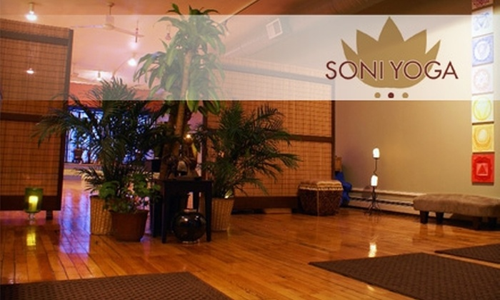 SoniYoga - Multiple Locations: $30 for a Five-Class Yoga Package at SoniYoga ($75 Value)