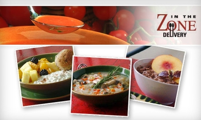 In the Zone Delivery - Prince's Bay: $25 for $75 Worth of Freshly Prepared Meals from In The Zone Delivery
