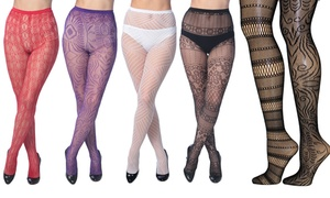 Frenchic Women's Fishnet Tights (4-Pack)