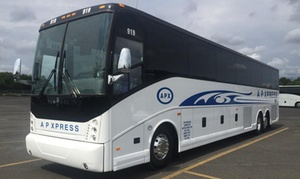 Up to 57% Off Bus Ride to NYC at AP Xpress Bus Company Inc., plus 9.0% Cash Back from Ebates.