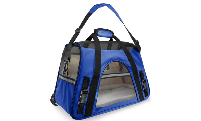 Nylon Pet Carrier Soft Sided Cat Dog Comfort Travel Tote Bag Airline Approved