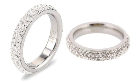 1, 2 o 3 anillos decorados con cristales swizos desde 14,99 €