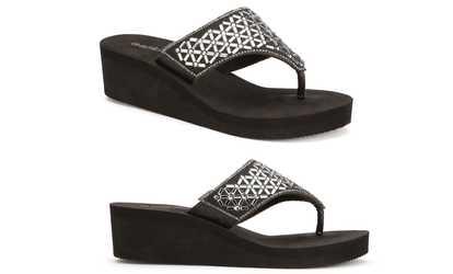 1054b62307 Shop Groupon Olivia Miller Women's Embellished Wedge Sandals