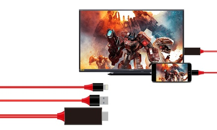 1 o 2 cables convertidores HDMI de audio y video para iPhone y iPad