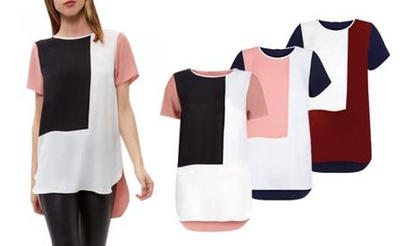 Women's Three-Colour Chiffon Top