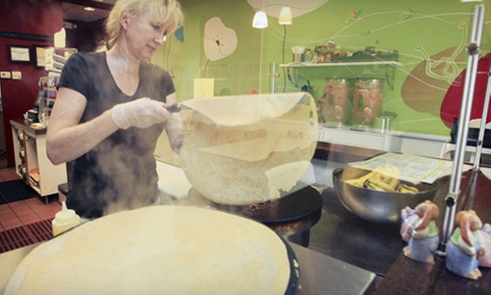 Green Lemon Cafe - Amarillo: $12 for Three Crepes, Paninis, or Salads at Green Lemon Cafe in Winter Park (Up to $24 Value)