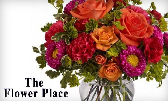 The Flower Place - New Castle: $20 for $40 Worth of Flower Arrangements or Fruit Baskets at The Flower Place