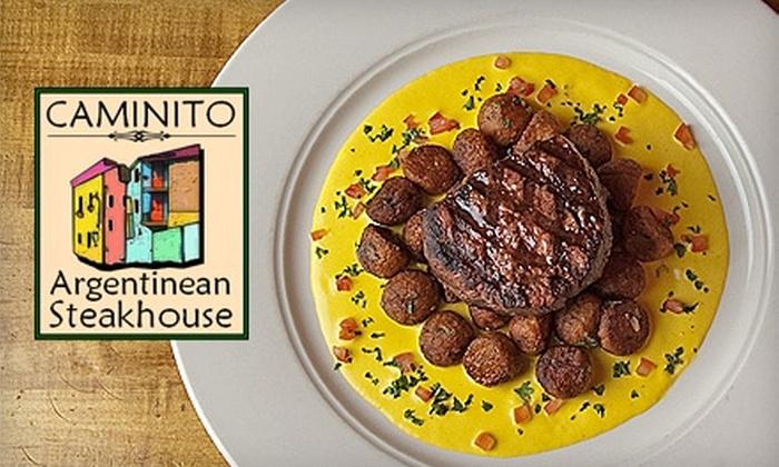 Caminito Argentinean Steakhouse - Northampton: $30 for $60 Worth of Steakhouse Fare at Caminito Argentinean Steakhouse