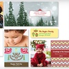 Holiday-Card Package with Set of 30 or 50 Custom Holiday Cards with Included Shipping