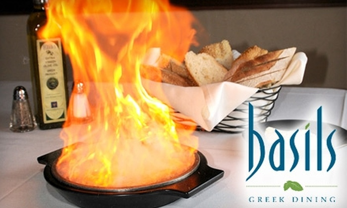 Basils Greek Dining - Aurora: $10 for $25 Worth of Mediterranean Fare at Basils Greek Dining in Aurora