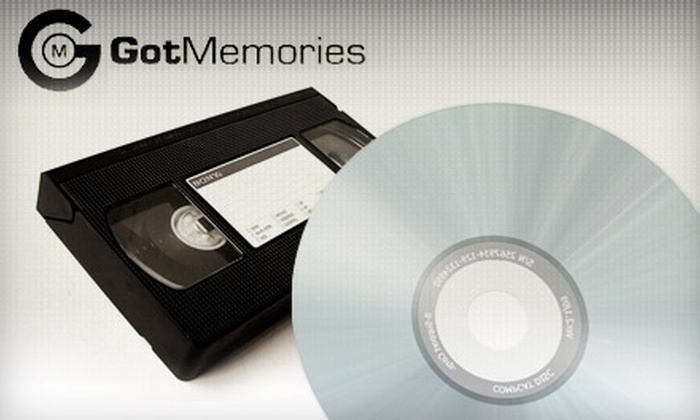 Got Memories - Tempe: $25 to Transfer Five Home Videotapes to DVD at Got Memories in Tempe ($89.99 Value)