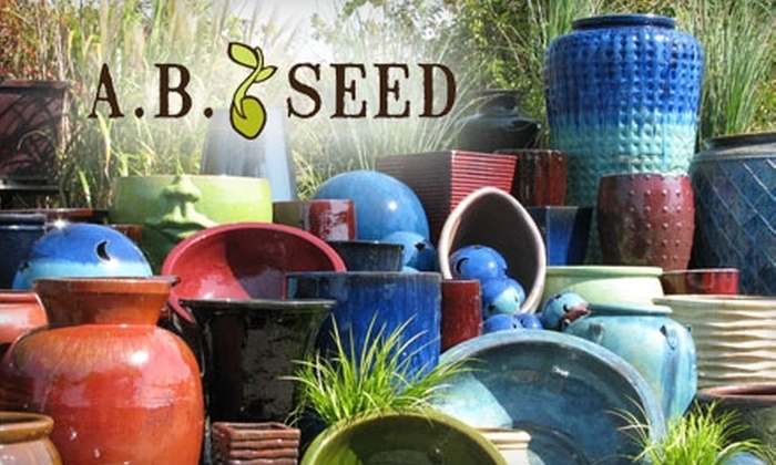 A.B. Seed - Deep River: $15 for $30 Worth of Garden Pottery, Gifts, Plants, and Landscaping Supplies at A.B. Seed