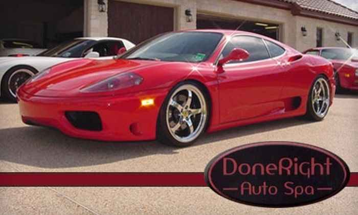 DoneRight Auto Spa - Oakland Ave - Harrison St: $40 for Special Touch Car Wash and Wax at DoneRight Auto Spa in Oakland ($80 Value)