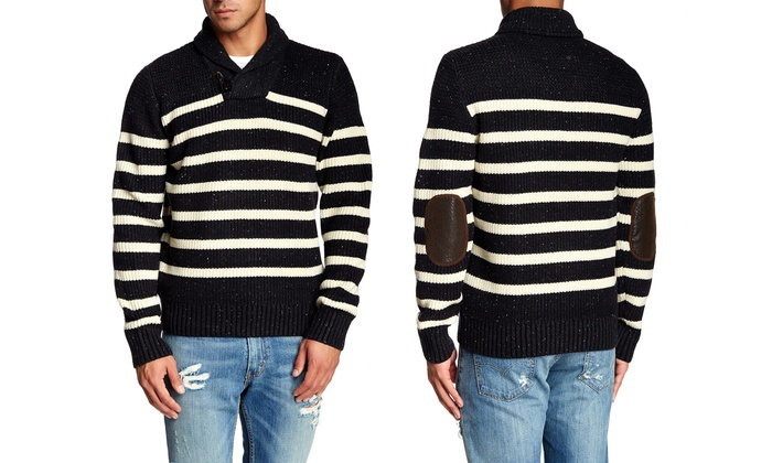 X-Ray Jeans Men's Striped Knit Sweater