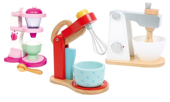 Accessori cucina giocattolo in legno Small Foot Legler per bambini disponibili in vari modelli