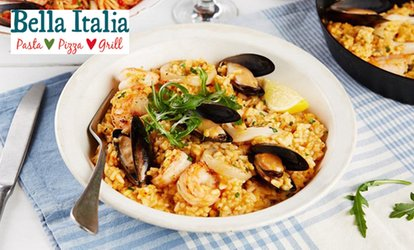 image for Two- or Three-Course Italian Meal for Two or Four at Bella Italia, Multiple Locations (Up to 61% Off)