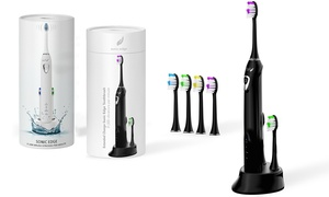 Sonic Edge Extended Charge Toothbrush with 4 Heads