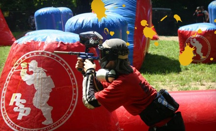 Walk-On Admission, Rental Gear and Gun, and 300 Paintballs (a $44 value) - Paintball Indiana in Martinsville