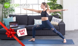 MyYogaWorks: 3- or 12- Month Subscription to Online Yoga from MyYogaWorks (Up to 82% Off)