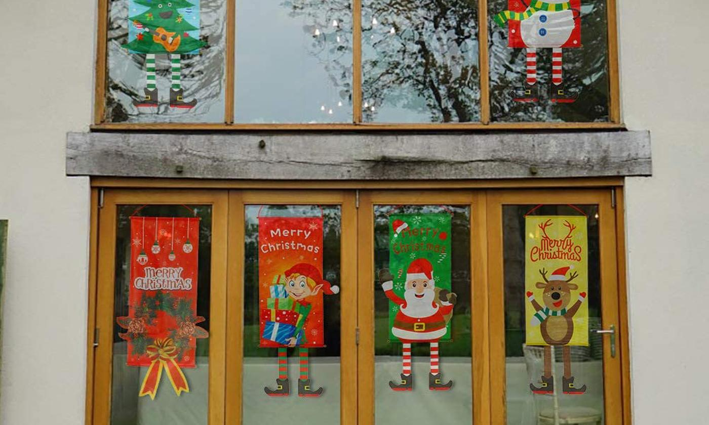 Up to Six Christmas Banner Flags