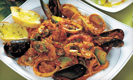 Good for Dinner for Two (up to a $70.85 total value), Including 1 Appetizer (up to a $10.95 value) and 2 Entrees (up to a $29.95 value each) - Scoogi's Classic Italian in Flourtown