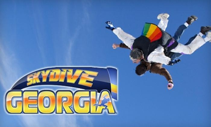 Skydive Georgia - Aragon: $114 for a Tandem Skydiving Session at Skydive Georgia in Cedartown
