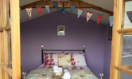 Shropshire: Glamping Cabin or Double Room with Breakfast
