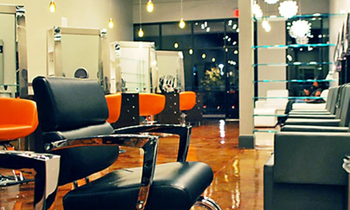 Salon Bella Dama - Perimeter Center: Cut and Style, Moroccan Oil Treatment, or Hair Extension Package at Salon Bella Dama