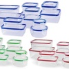 Food Storage Containers and Airtight Locking Lids Set (16- or 24-Pc.)