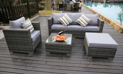 Groupon Vancouver Rattan Sets Two Sizes