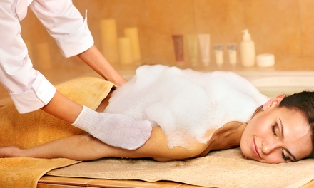 Body scrub with vichy shower studio a salon groupon for 33 fingers salon groupon